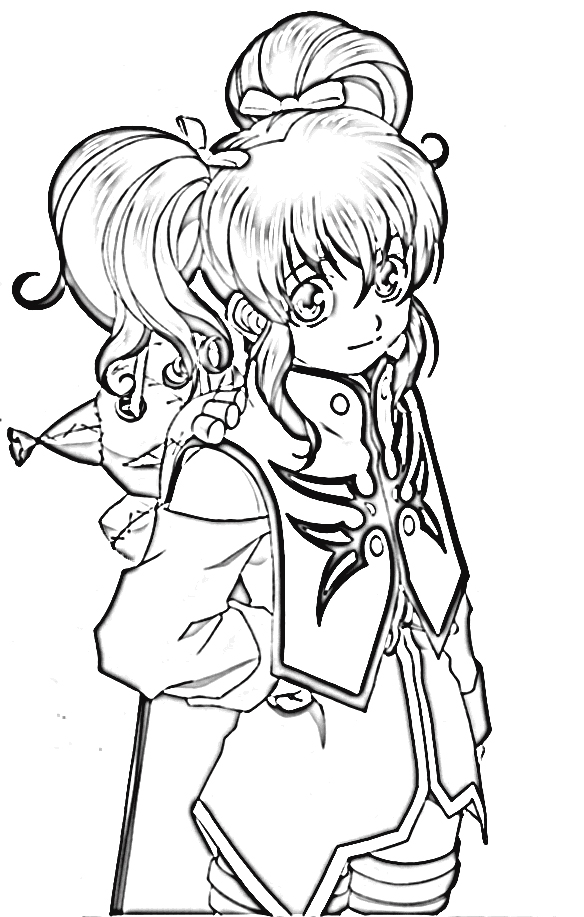Tales of The Abyss Coloring Pages 4
