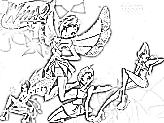 Winx Club Coloring Pages 1