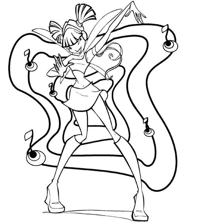 Winx Club Coloring Pages 2