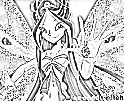 Winx Club Coloring Pages 6