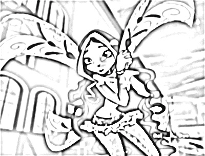 Winx Club Coloring Pages 8
