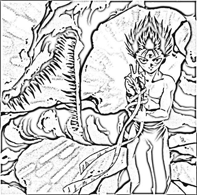 Yu Yu Hakusho Coloring Pages 1