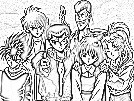 Yu Yu Hakusho Coloring Pages 4