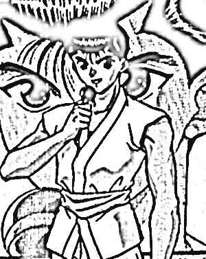 Yu Yu Hakusho Coloring Pages 5