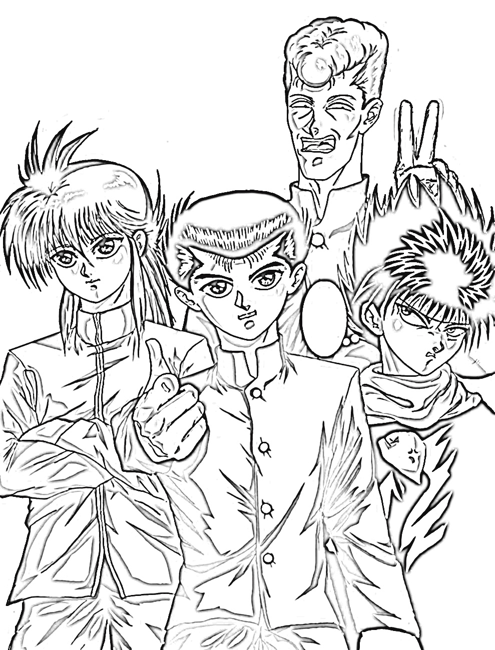 yu yu hakusho coloring pages