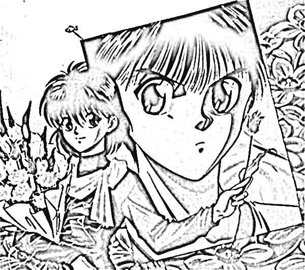 Yu Yu Hakusho Coloring Pages 8