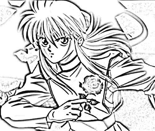 Yu Yu Hakusho Coloring Pages 9