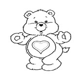 Care Bear Coloring Page 1