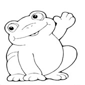 Frog Coloring Page 2