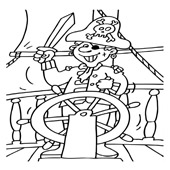 Pirate Coloring Pages 7
