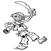 Pirate Coloring Pages 9