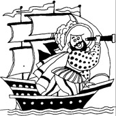 Pirate Coloring Pages 12