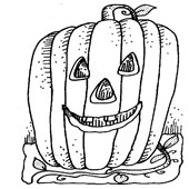Pumpkin Coloring Pages 4
