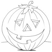 Pumpkin Coloring Pages 7