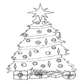 Christmas Tree Coloring 4